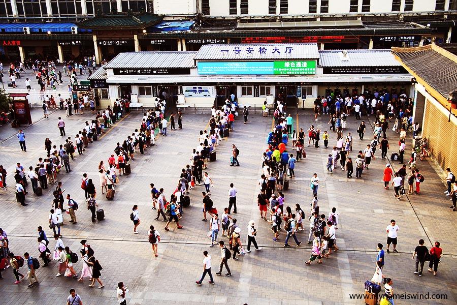 pociągi w chinach