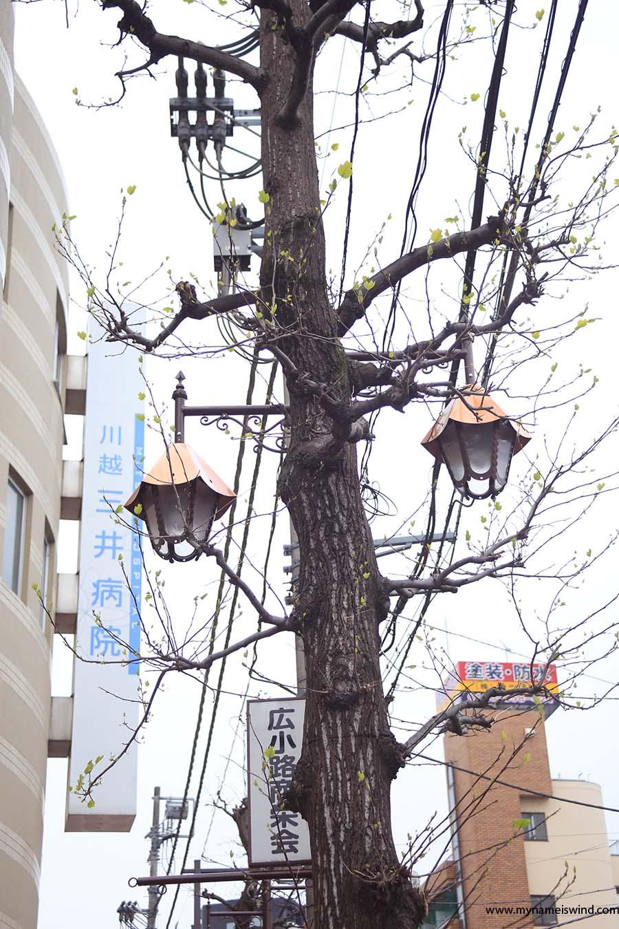Kawagoe latarnie uliczne