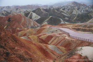 Tęczowe Góry Danxia. Bez Photoshopa