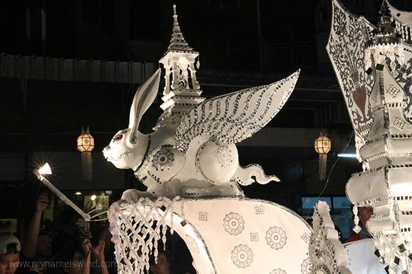 Chiang Mai. Festiwal Latarni. Parada