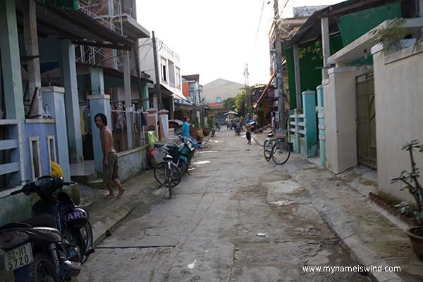Hoi An- boczna uliczka