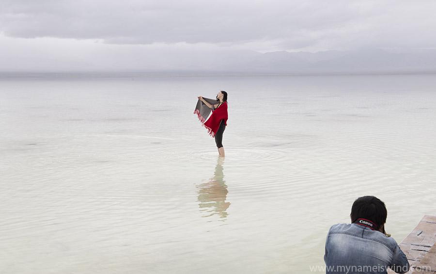 Chaka słone jezioro w Chinach