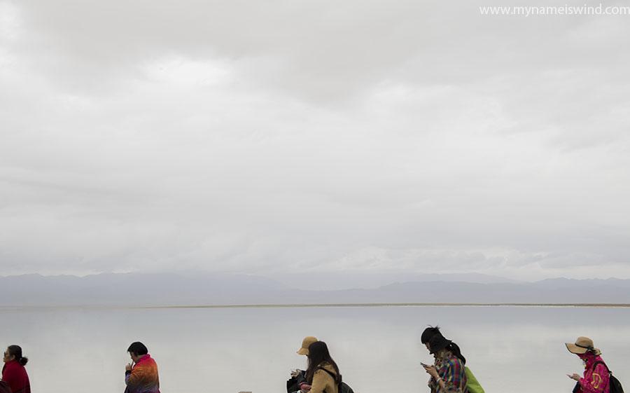 Słone jezioro w Chinach Chaca. chiny ciekawostki